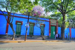 Frida Kahlo Museum royaltyfri bild