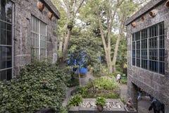Frida Kahlo Museum Blue House und courtyard Stock Photo