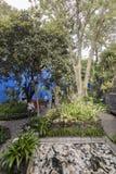 Frida Kahlo Museum Blue House und courtyard Stock Image