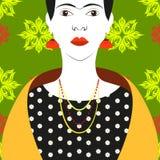 Frida Kahlo Vector-Illustration Lizenzfreie Stockfotografie