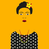Frida Kahlo Vector illustration Royalty Free Stock Photo