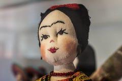 Frida mexicano de la muñeca del arte popular del arte Fotografía de archivo libre de regalías
