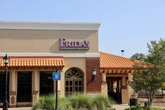 Frida`s Mexican Restaurant. Frida`s in Collierville, Tennessee serves tacos, burritos, enchiladas and other Mexican favorites stock image