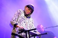 Frida Sundemo (cantante sueco) se realiza en el La musical Merce Festival de Barcelona Accio (BAM) Fotos de archivo libres de regalías