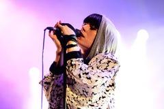 Frida Sundemo (Swedish singer) performs at Barcelona Accio Musical (BAM) La Merce Festival Stock Image