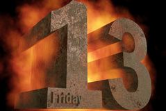 Friday 13. Bad luck day Stock Images