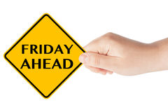 Friday Ahead Sign royalty free stock image