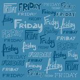 Friday background Stock Image