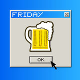 Friday beer message. Creative design of friday beer message Stock Photo