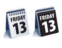 Friday 13 calendar. Realistic vector. 3d illustration stock illustration