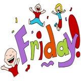 Friday Celebration. An image of a Friday celebration vector illustration