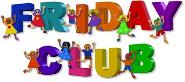 Friday Club Kids Royalty Free Stock Photography