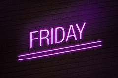 Friday going out concept neon sign Royalty Free Stock Photos