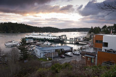Friday Harbor, San Juan Island, Washington. Royalty Free Stock Photo