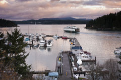 Friday Harbor, San Juan Island, Washington. Stock Images
