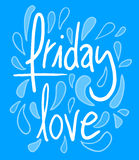 Friday love Royalty Free Stock Photography