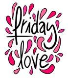 Friday love Stock Photography