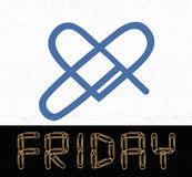 Friday love icon Stock Images