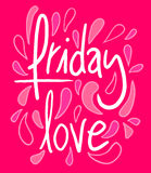 Friday love message Royalty Free Stock Images