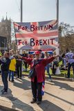 The March for brexit supporters on 29 March 2019 stock image