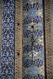 Friday Mosque. Details of floral mosaic tiled columns, Masjud-e Jame (Friday Mosque)QazvinIran Stock Photography
