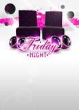 Friday night disco background Stock Photo