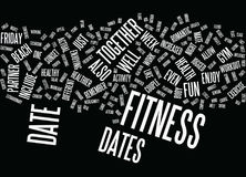 Friday Night Fitness Dates Text Background  Word Cloud Concept Royalty Free Stock Photography