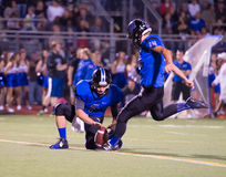 Friday Night Lights High School Football Field Goal Kick Stock Photography