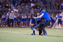 Friday Night Lights High School Football Field Goal Kicker Royalty Free Stock Photos