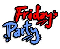 Friday party. Creative design of friday party Stock Photography