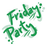 Friday party Royalty Free Stock Photo
