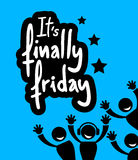 Friday party. Creative design of friday party message Royalty Free Stock Image