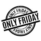 Only Friday rubber stamp. Grunge design with dust scratches. Effects can be easily removed for a clean, crisp look. Color is easily changed Royalty Free Stock Photos