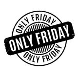 Only Friday rubber stamp. Grunge design with dust scratches. Effects can be easily removed for a clean, crisp look. Color is easily changed Stock Image