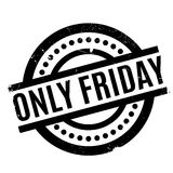 Only Friday rubber stamp Stock Photos