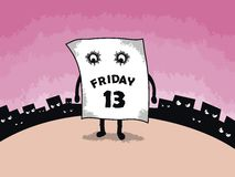Friday 13. Sad and unloved Friday 13 Stock Illustration