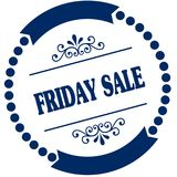 FRIDAY SALE blue seal. Illustration graphic concept image Stock Photography