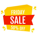Friday - sale -50% off banner. Stock Images