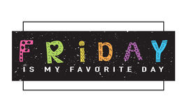 Friday t-shirt graphics tee slogan design Stock Image