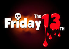 Friday the 13th  banner Royalty Free Stock Photos