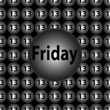 Friday the 13th - decorative vector black and silver circular background. Computer generated decorative vector black and silver circular background Stock Photo