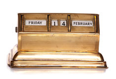 Friday 14th February perpetual calendar Stock Photo