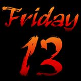 Friday the 13th. Banner Stock Photos