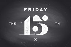 Friday the 13th. Banner and poster with text . Hand drawn design in red and black color. Horror typography for party holiday 13th, Friday. Banner, poster stock illustration