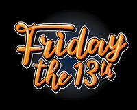 Friday the 13th. Stock Photos