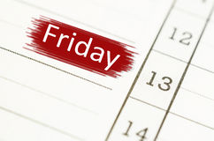 Friday 13th. Friday 13th on Grunge paper royalty free stock image