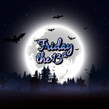 Friday the 13th message design background Stock Image