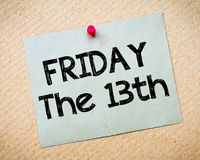 Friday the13th Message stock photos