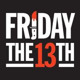 Friday the 13th Vector Design. Royalty Free Stock Image