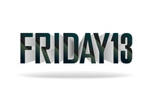 Friday 13. Vector inscription. On white background Royalty Free Illustration